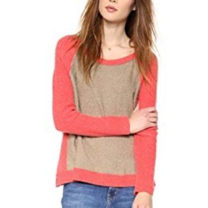 Free People Tabbard Coral Pullover Sweater